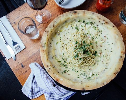 Go to the Buffalo Dining Club Italian restaurant in Sydney and order the cacio e pepe.