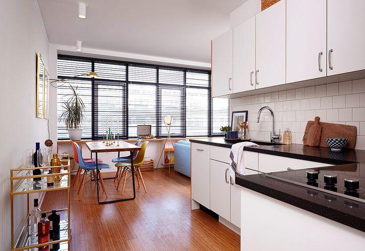 Cada vivienda incluye una cocina completamente equipada.