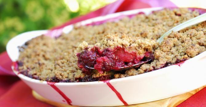 15 recettes minceur au quinoa crumble de fruits rouges light en cro te de quinoa running. Black Bedroom Furniture Sets. Home Design Ideas