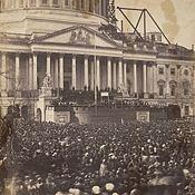 Abraham Lincoln's inauguration in 1861. #abrahamlincoln  #civilwar
