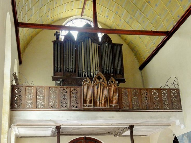 Écouen (95), église Saint-Acceul, nef, tribune d'orgue - Église Saint-Acceul d'Écouen — Wikipédia