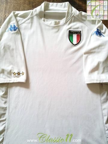 Relive Italy's 2002/03 international season with this original Kappa away football shirt.