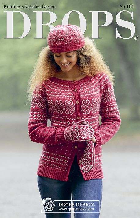 DROPS 181 - Autumn & Winter - More of the Nordic inspired design that characterizes this collection. Here you'll find lovely jumpers and jackets with round yoke, raglan and flattering A-shapes, as well as sets of hats, neckwarmers, mittens and wristwarmers with beautiful lace patterns.