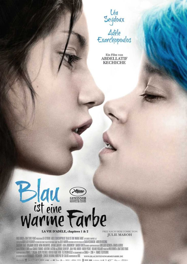 Filmtitel: Blau ist eine warme Farbe,  Titelschrift: Brushtip Texe,  Foundry: Joebob graphics