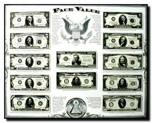 Your home is the best place to express your moods and tastes! Grab this attractive wall poster just what you need for your home decor! This poster captures the image of old US currency face value money Dollar art print which is sure to attract lot of attention. It will add class and beauty to your walls. Hurry up! Grab this wonderful poster for its high quality with perfect color accuracy.