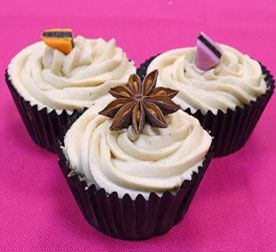 These star anise cupcakes are made using a lovely aniseed flavoured spice traditionally used in Asian cooking. This beautiful looking star shaped spice also looks great as a decoration on top of the cakes.