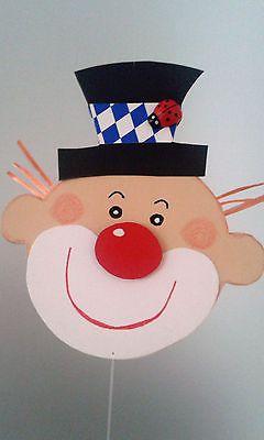 Fensterbild Clown Kette- Fasching -Karneval -Dekoration - Tonkarton!