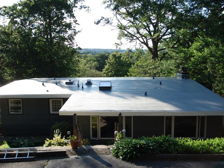 Pvc Roof On A House Roofing Flat Roof Materials Metal