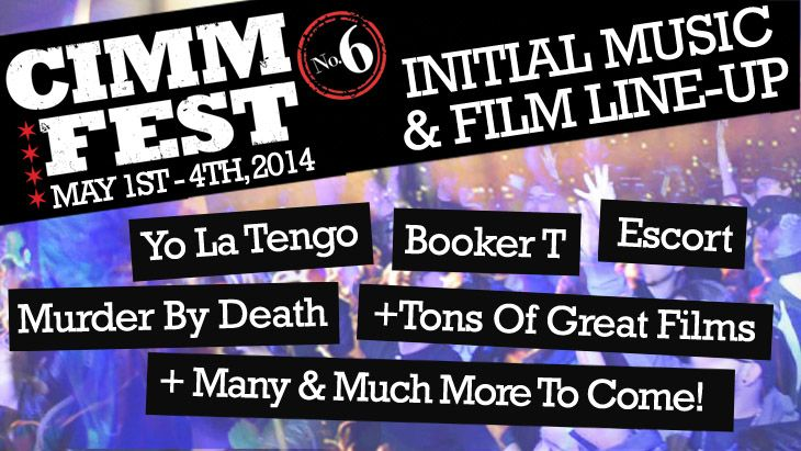 HERE WE GO!!!! The initial music & film lineup is finally here with acts like Yo La Tengo, Booker T, Murder By Death and so many others to come! Stay tuned for pins of our films and music acts!