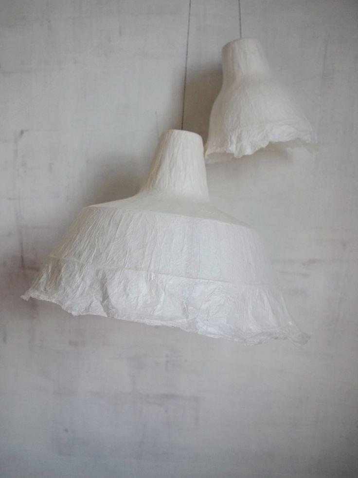 WHITE PAPER LAMPSHADE  http://myriambalay.fr