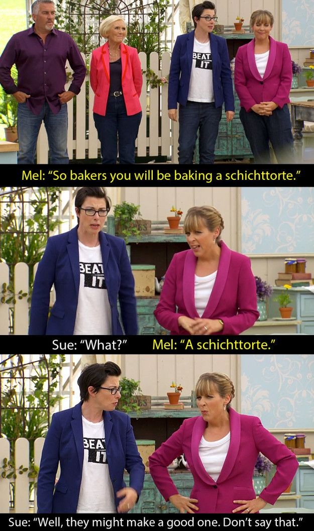"""When they had to make a 20-layered German cake. 