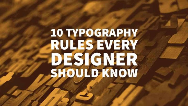Learn the top 10 Typography Rules Every Designer Should Know. Tips and advice on Fonts from the #1 Belfast Branding Agency --- Inkbot Design via @inkbotdesign