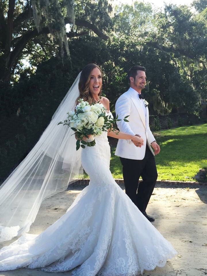 Enzoani Dakota Wedding Dress. Wedding at Boone Hall Plantation / Cotton Dock. Charleston SC Wedding.