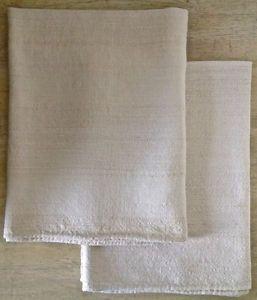 Antiquité Métier d'art Grands linges à vaisselle tissés en lin L