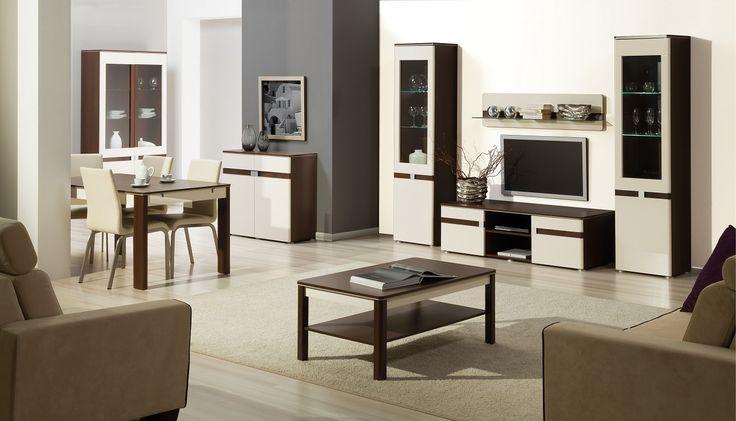 Tak może wyglądać salon marzeń :) Oto nasza kolekcja Tre #meble #salon #zainspirujsie #inspiracja #szynaka