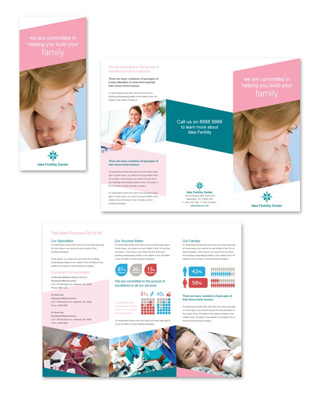 30 best brochure images on Pinterest Brochures, Print templates - hospital flyer template