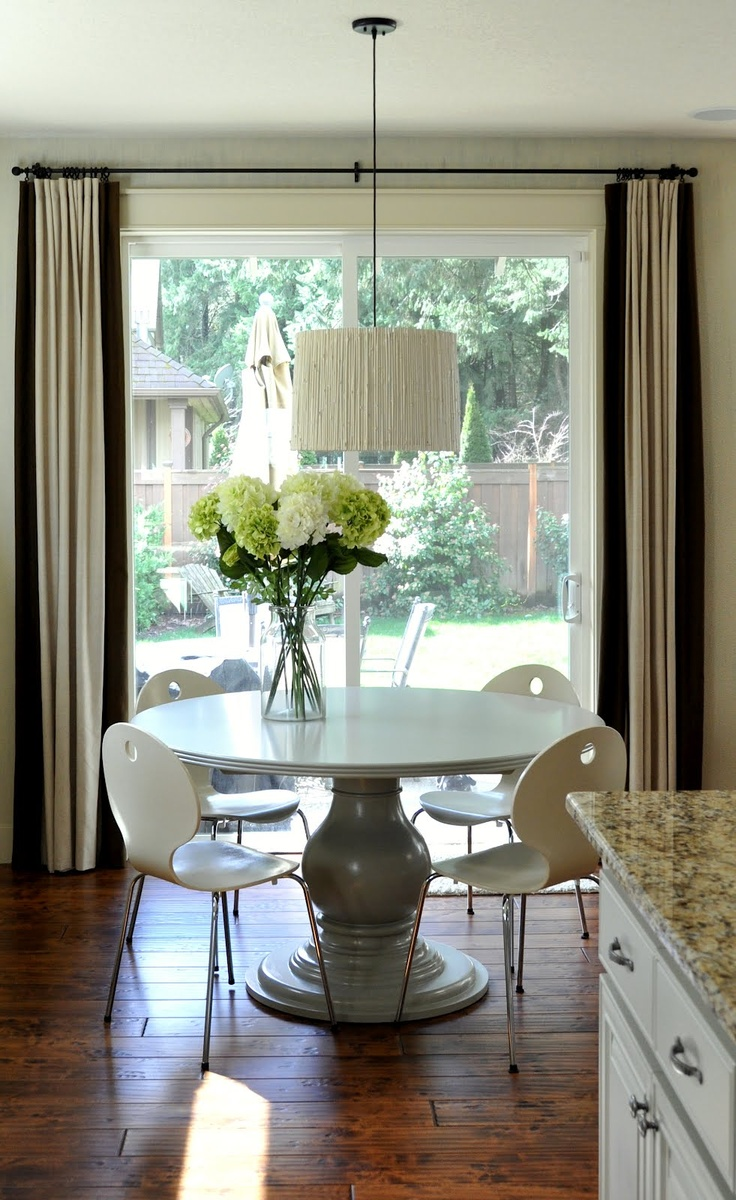 Kitchen nook window treatments   best living roomdining room combo images on pinterest