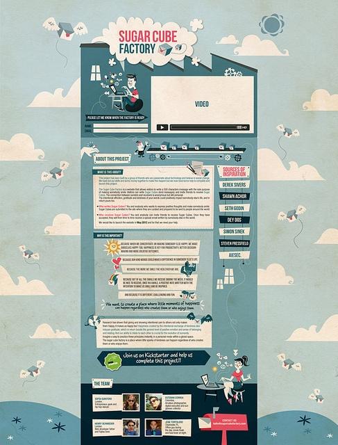 Sugar cube web by Poleta Art, via Flickr