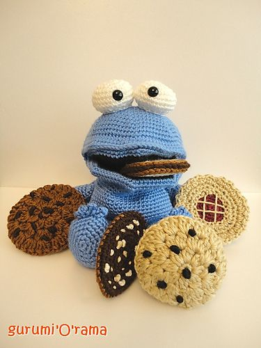 Amigurumi Cookie Monster Pattern : GurumiOkOokymOnsta - hand puppet pattern by Frances Chen