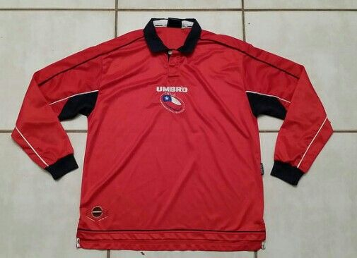 Vintage UMBRO Chile National Team Long Sleeve Football Shirt #chile#futbol#fifa#worldcup#soccer#jerseys#ebay#ebayseller