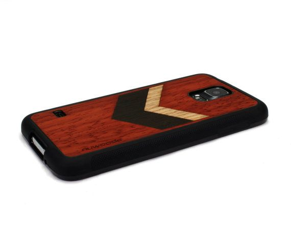 Wood Chevron Geometric Red Wood