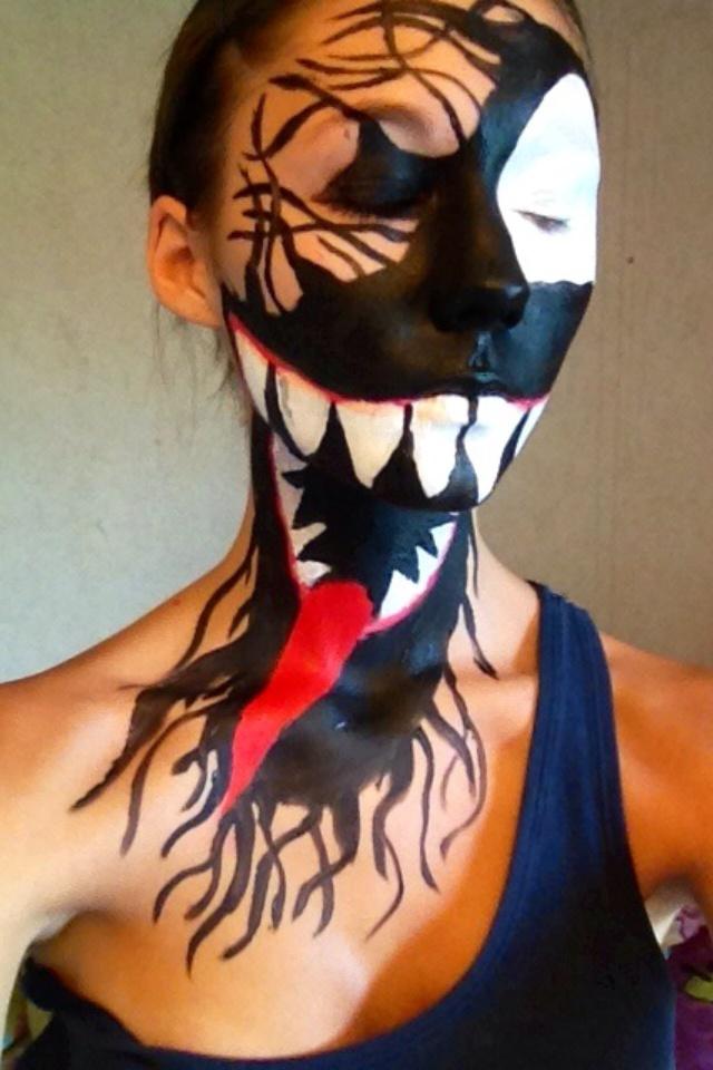 Venom face paint | Mak...