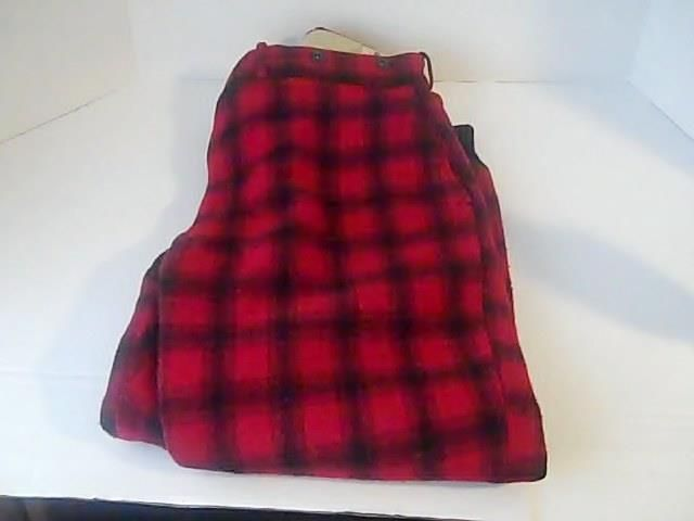 WOOLRICH Vintage  Red  Black Buffalo  Plaid HEAVY WOOL Hunting PANTS  Lined USA #WOOLRICH #hunting
