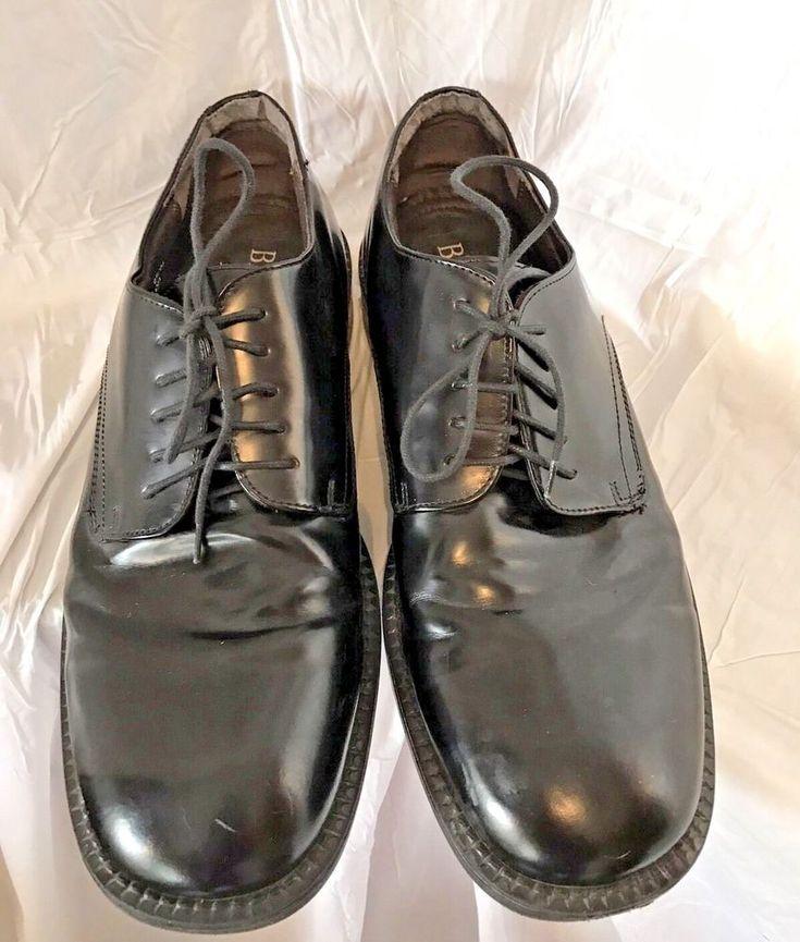 Bass Shoes Black Leather Laces Oxfords Men's Size 10 M EUR 44 #Bass #Oxfords