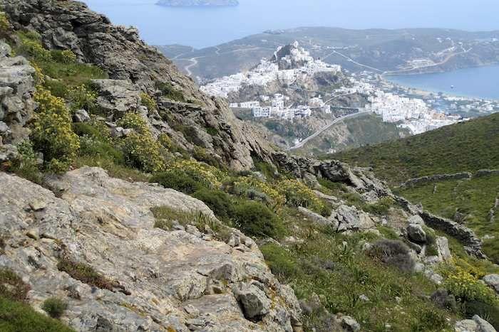 View down to Chora, Serifos