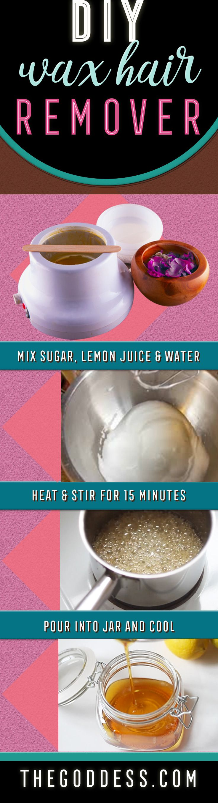 DIY Wax Hair Remover Recipe and Tutorial - Homemade Sugar Wax for Easy Hair Removal At Home - Cool Beauty Tips and Tricks for Those On a Budget - Cheap and Simple Recipe to Make Sugaring Wax, Better Than Shaving