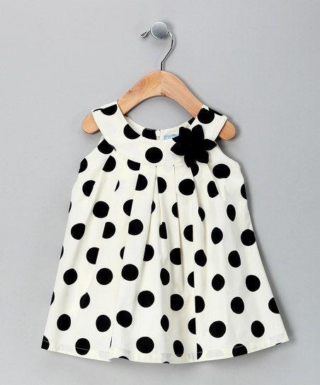 Willoughby Cream Polka Dot Yoke Dress - Infant   zulily