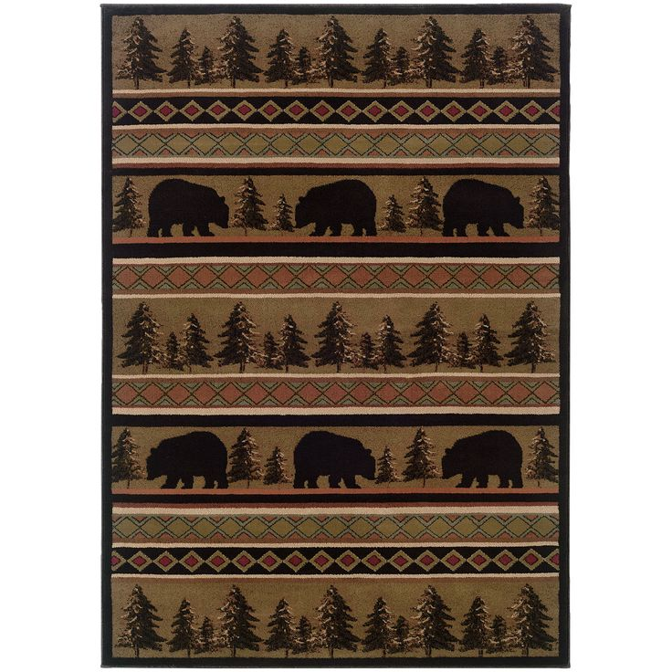 Hudson 1066A Black Traditional Rug by Oriental Weavers