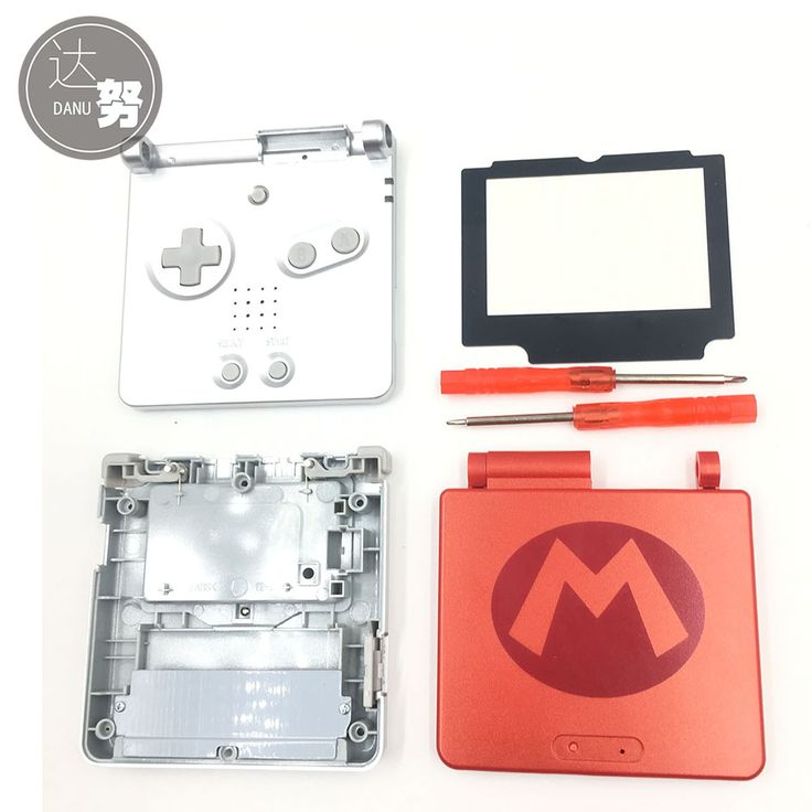 [ 9% Off ] For Mario vs Donkey Kong Edt For GBA SP Housing Shell Case Cover Part for Nintendo Gameboy Advance SP