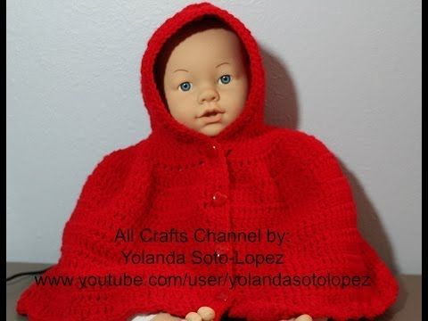 """▶ #Crochet Cape inspired by """"Little Red Riding Hood"""" Video 2 (final) - YouTube"""