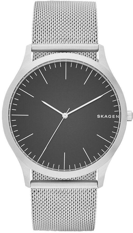 Skagen Men's Stainless Steel Mesh Bracelet Watch 41x45mm SKW6334