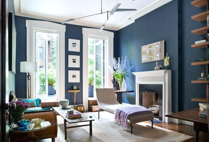 Blue Walls Brown Furniture Blue Living Room Decor Blue Living Room Navy Blue Living Room