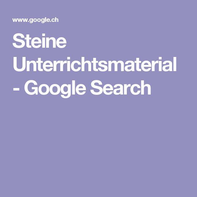 Steine Unterrichtsmaterial - Google Search