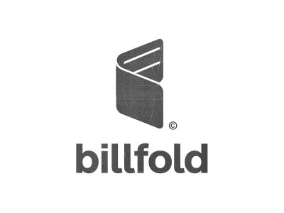 Logo design done for new product called billfold™ - Was pretty hard not to be literal, but thought this shape was more unique.