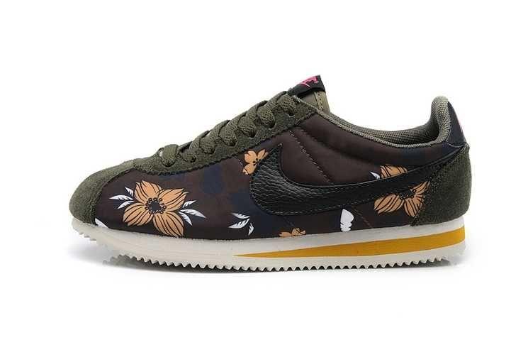 100% Guaranteed Nike Classic Cortez Nylon Womens Flower Brown Sale Shoes