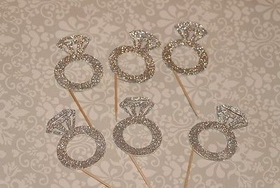 Engagement Ring Cupcake Toppers