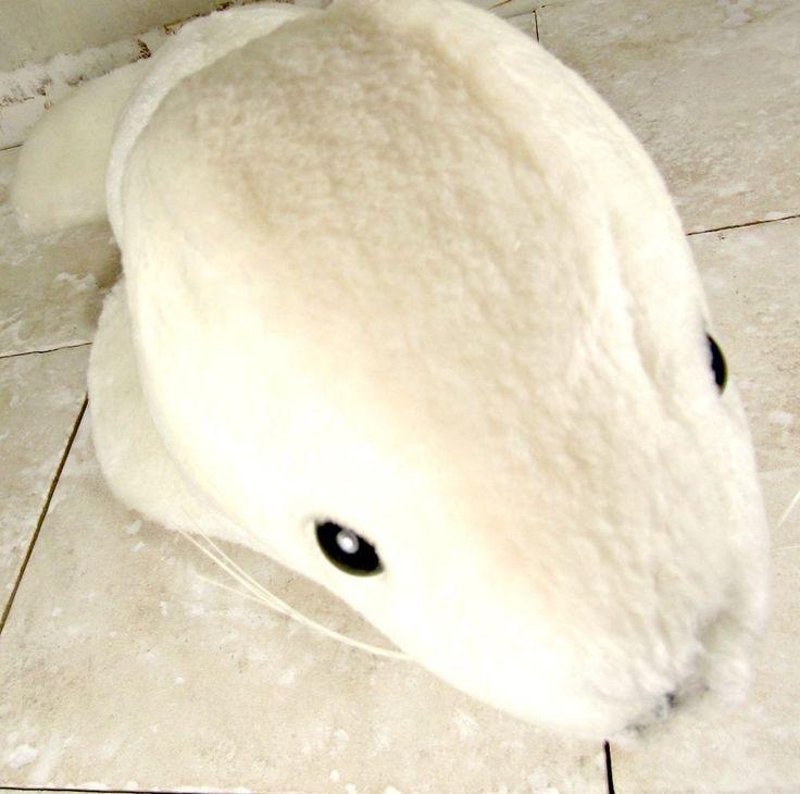 "SEA WORLD Collectible Souvenir WHITE SEAL Plush Stuffed Animal 13"" FREE SHIPPING #SeaWorld"