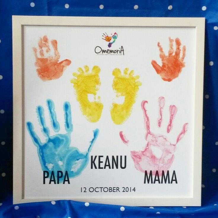 #OmemoriA family handprint footprint art wall decor