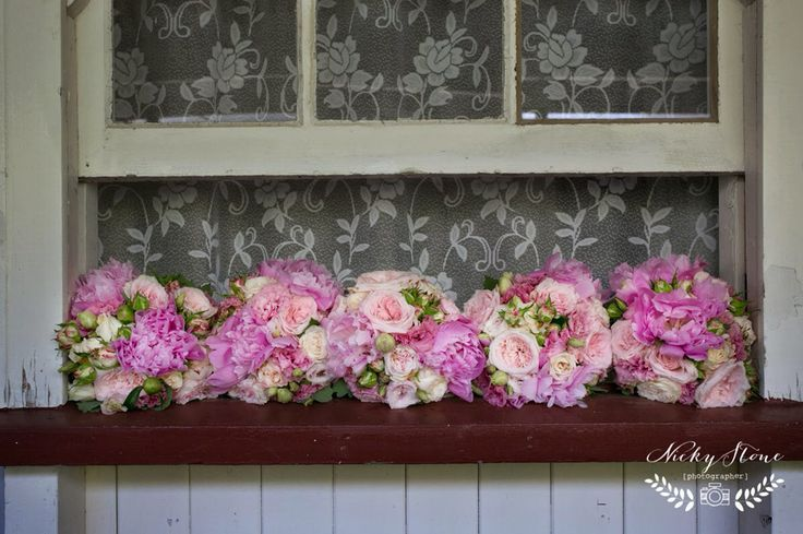 Pretty maids all in a row | Pomegranate Photography | Ginger Lily & Rose Floral Studio
