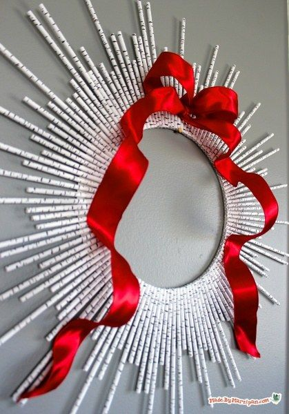 Paper Straw Wreath: Made By Marzipan