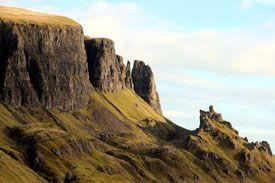 High cliff faces on Quiraing walk.