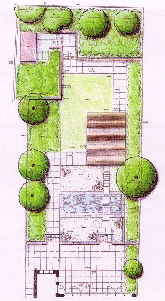 plan drawing planos de jardines pinterest gardens