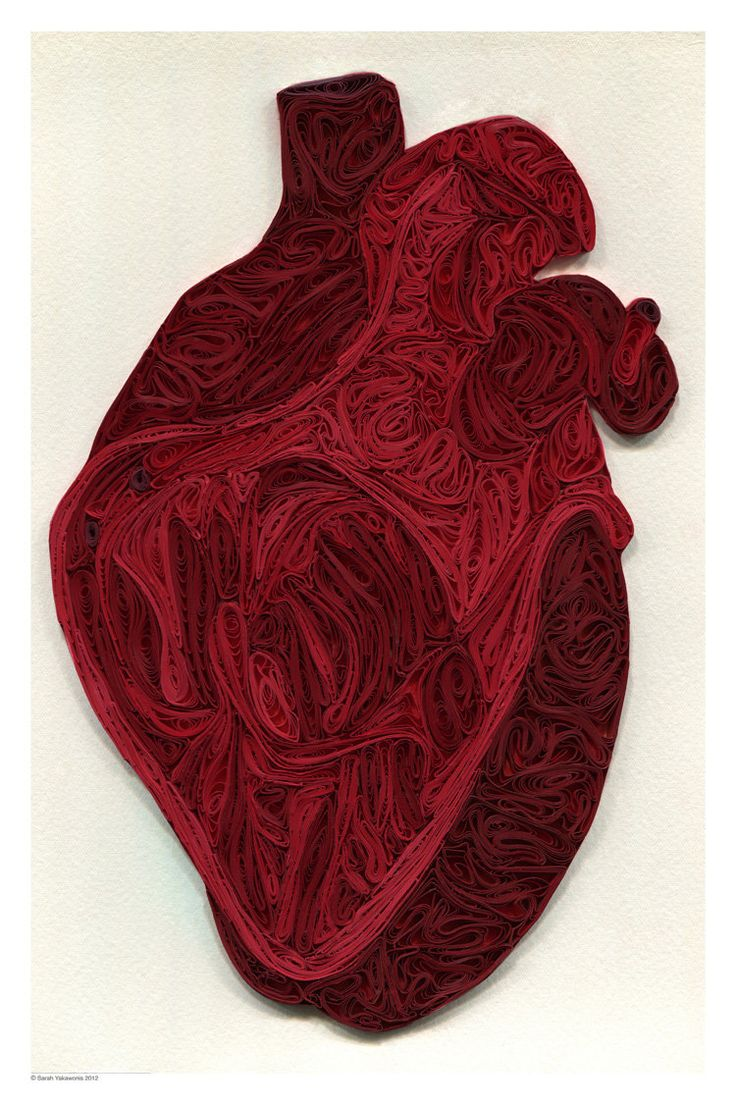 Quilled Human Heart poster via Etsy.