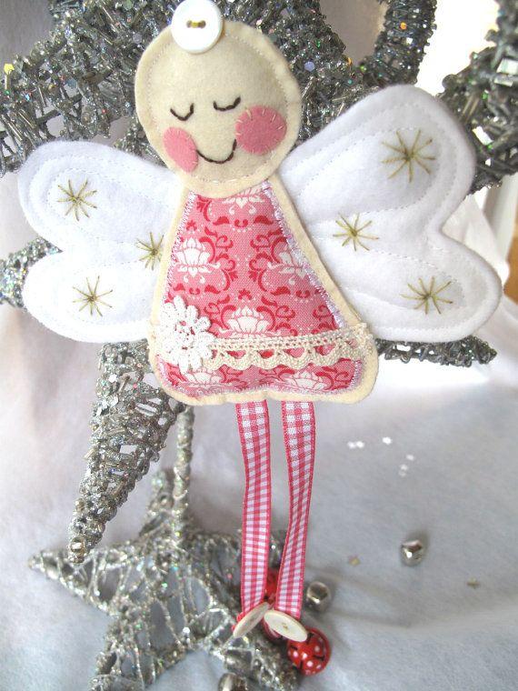 Pretty Pink Angel Decoration