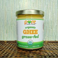 """Grassfed Organic Ghee  Known as the """"Royal Oil"""", clarified butter is excellent for cooking, with snacks, and even on skin as a moisturizer.    With all the milk solids removed, ghee is casein and lactose free, making it easy to digest. It is rich in healthy fat soluble vitamins which aid in the absorption of nutrients in foods."""