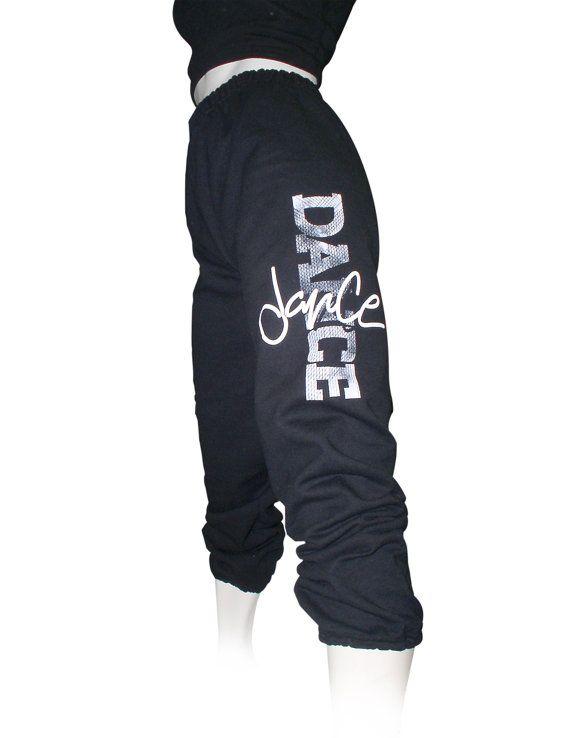 Girls Dance Sweatpants titled Gigi.  Black Girls by designer4dance